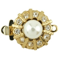 Beadalon Crystal Push Clasp Gold Plated x 1
