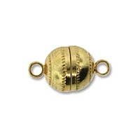 Magnetic Clasp 8mm Gold Plated x 1