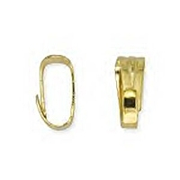 Small Clip-On Bail Gold Plated x 6
