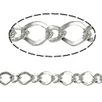 Large Figaro Chain Rhodium Plated x 1 Yard