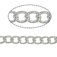 Medium Curb Chain Rhodium Plated x 1 Yard