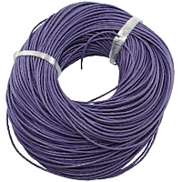 Purple 2mm Round Leather Cord x 1 yard