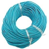 Turquoise 2mm Round Leather Cord x 1 yard