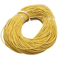 Yellow 2mm Round Leather Cord x 1 yard