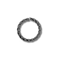 Twisted Jump Ring 10mm Gunmetal Plated x 12
