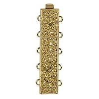 Rectangle Clasp 5 Strand Gold Plated x 1