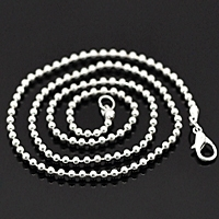 "20"" Ball Chain Necklace Silver Plated x 1"