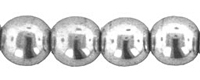 Metallic Silver 3mm Round Glass Beads x 100
