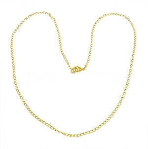"18"" Fine Curb Chain Necklace Gold Plated x 1"
