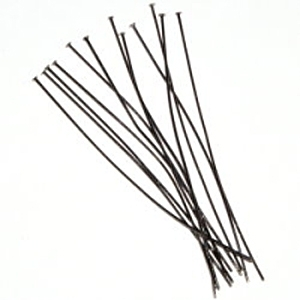 "1"" Head Pin (Thin) Gunmetal plated x 144"