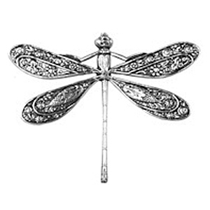 Non-Tarnish Silver Plated Dragonfly Pendant x 1