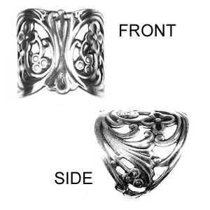 Non-Tarnish Silver Plated Filigree Finger Ring x 1