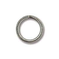 Antique Silver Plated 8mm Open Jump Ring x 12