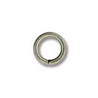 Antique Silver Plated 6mm Open Jump Ring x 12