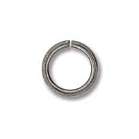 Antique Silver Plated 7mm Open Jump Ring x 12