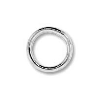 Silver Plated 8mm Closed Jump Ring x 24