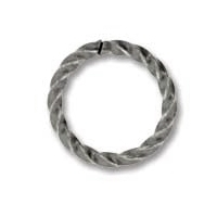Antique Silver Plated 10mm Twisted Open Jump Ring x 12