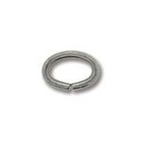 Antique Silver Plated 5x7mm Oval Jump Ring x 12