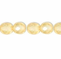 Light Topaz 3mm Czech Fire-polish Bead x 50