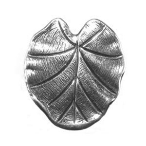 Non-Tarnish Antique Silver Plated Waterlily Leaf Pendant x 1