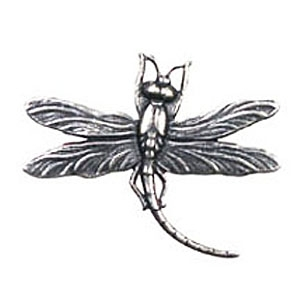 Non-Tarnish Antique Silver Plated Dragonfly Stamping x 1