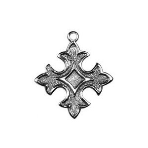 Non-Tarnish Antique Silver Plated Small Cross Charm x 1
