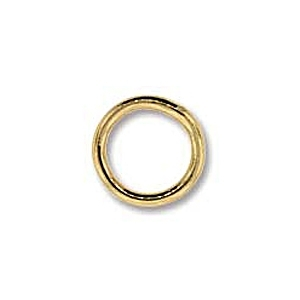 8mm Gold Plated Closed Jump Ring x 24