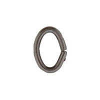 Oval Jump Ring 6x8mm Gunmetal Plated x 12