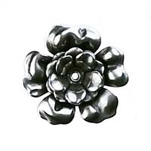 Non-Tarnish Antique Silver Plated 3 Layer Riveted 28mm Flower x 1