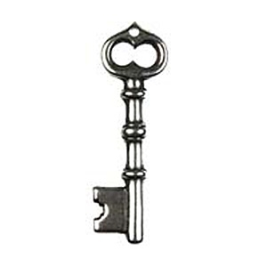 Non-Tarnish Antique Silver Plated Skeleton Key x 1