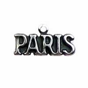Non-Tarnish Antique Silver Plated Paris Charm x 1