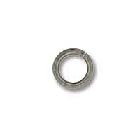 4mm x 0.8mm Jump Ring Rhodium Plated x 20