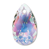 Crystal (AB) 22mm Pear Drop Swarovski Crystal x1