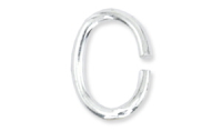Oval Jump Ring 6x4mm Silver Plated x30
