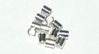 3x2mm Crimp Tube Sterling Silver  x10