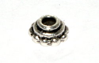 8mm Bead Cap Antique Silver Plated x10