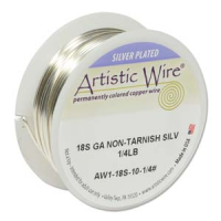 Non-Tarnish Silver Plated Wire 1.02mm Diameter x 20 ft