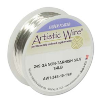 Non-Tarnish Silver Plated Wire 0.51mm Diameter x 45 ft