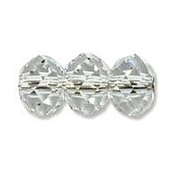 Clear 6x4mm Crystal Rondelle x 50