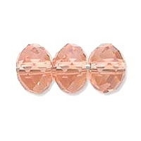 Light Pink Lustre 6x4mm Crystal Rondelle x 50