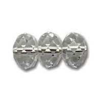 Grey Silver 6x4mm Crystal Rondelle x 50