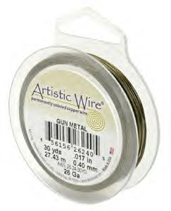 Gunmetal Plated Wire 1.02mm Diameter x 30ft