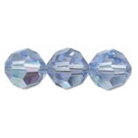 Light Sapphire Lustre 8mm Crystal Round Beads x 25