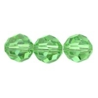 Peridot Green Lustre 8mm Crystal Round Beads x 25