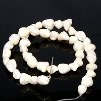 Mother of Pearl Nugget Beads 7.5""