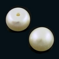 Freshwater Half Drilled 5.5mm Button Pearls x Pair